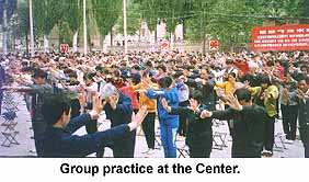Group practice at the center